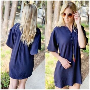 Infinity Raine Dresses - ✨LAST ONE✨Navy Tunic Dress with Paisley Lining